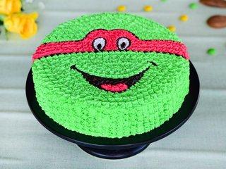 Ninja Turtle Cream Cake