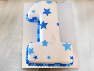 Number 1 Cake for First Anniversary and Birthday Celebration