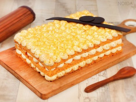 Orange Bubble Rectangle Cake in Noida