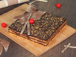 Orange Square Cake in Gurgaon