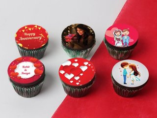 Personalised Anniversary Cupcakes Set