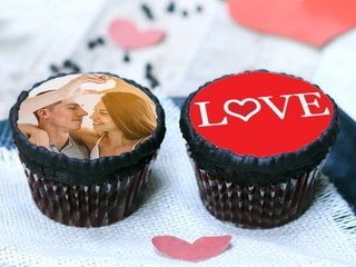 Personalised Cupcakes For Couple