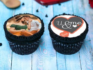Personalised Cupcakes For Lovers