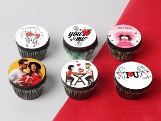 Personalised Love Cupcakes