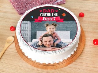 A Photo Cake for Dad