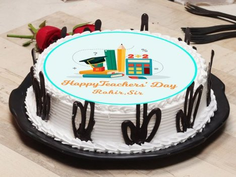 Poster Cake for Teachers Day