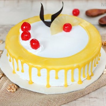 Pineapple Jelly Fruit Cake