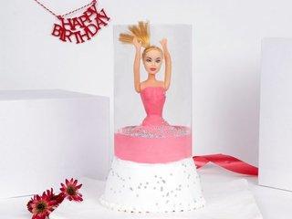 Pink Pull Me Up Barbie Cake 1 Kg