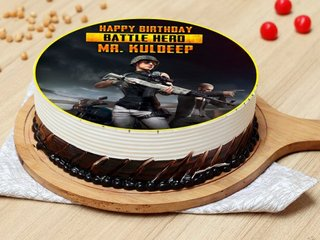 PUBG Battle Hero Poster Cake
