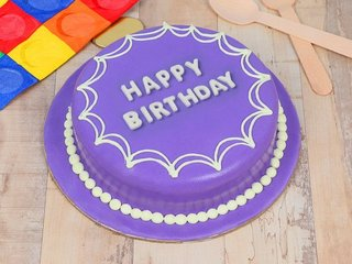 A Royal Indulgence - Purple Fondant Cake