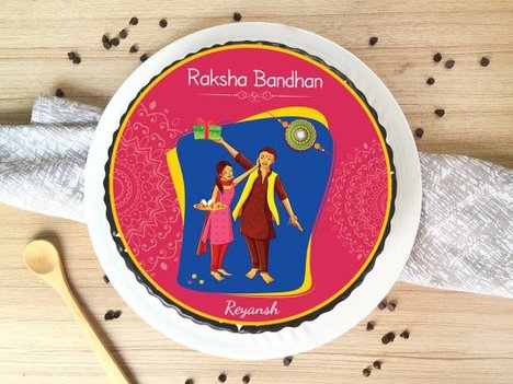 Raksha Bandhan Poster Cake for Brother