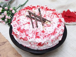 Red Velvet Cake With Choco Sticks