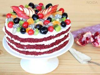 Red Velvet Fruit Cake in Noida