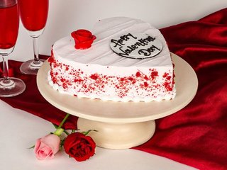 Red Velvet Valentines Day Cake