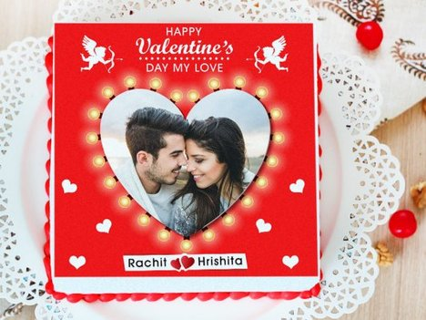 Relentless Love - A Valentine Photo Cake for Romantic Couple
