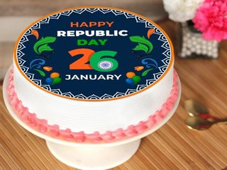Republic Day Poster Cake