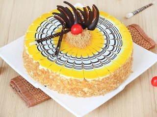 Flavorsome Fuse - Round Shaped Butterscotch Cake