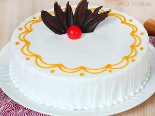 Zoom View of Vanilla Quest - Round Shaped Vanilla Cake in Hyderabad