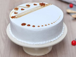 Round Shaped Vanilla Cake in Gurgaon