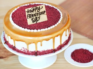 Red Velvet Choco Coffee Cake For Friendship Day Celebration