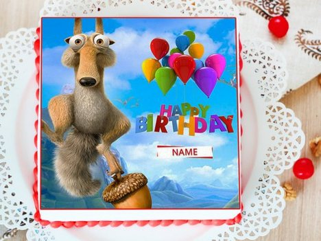 The Meltdown - Ice Age Photo Cake for Kids