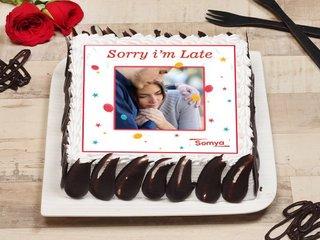 Sorry I Am Late Photo Cake