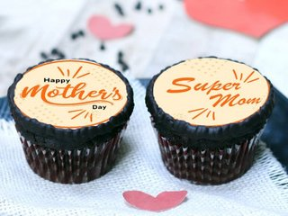 Poster Cupcakes for Super Mom