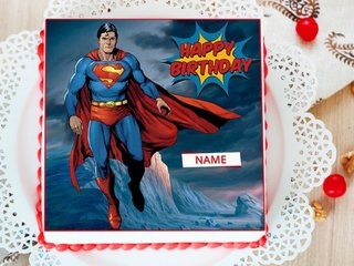Superman Photo Cake For Boys