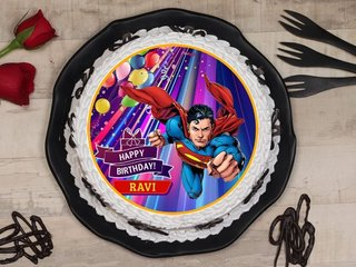 Superman With A Cake