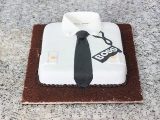 Treat For Boss - A Shirt Fondant Cake