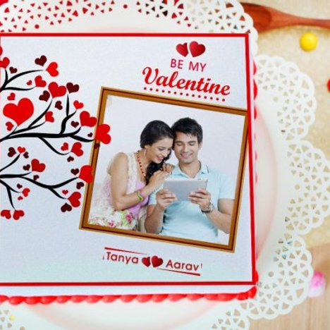 Tree Of Love - A valentine special photo cake