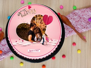 Valentines Day 2021 Photo Cake
