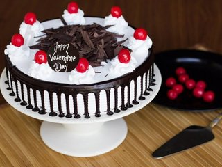 Valentines Day Black Forest Cake