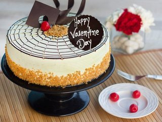 Valentines Day Butterscotch Cake