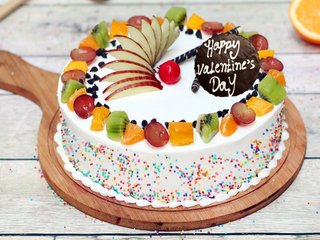 Valentines Day Fruit Cake