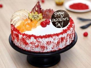 Valentines Day Red Velvet Vegan Cake