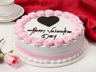 Valentines Day Strawberry Cake