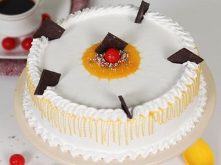 Vanilla Cake With Cherry