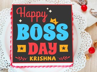 Poster Cake for Happy Boss Day