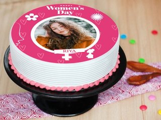 Womens Day Photo Cake
