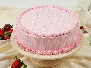 Tasty Strawberry Vegan Cake