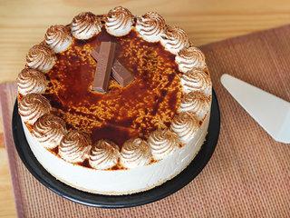 Top View of Tiramisu Cheesecake