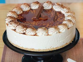 Zoomed View of Tiramisu Cheesecake