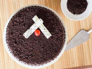 Top View of Chocolate Mud Cake
