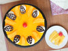 Top View of Mango Cheese Cake