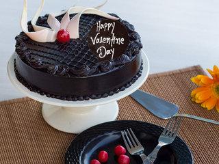 Valentines Day Choco Truffle Cake