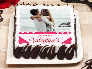 Valentines Day Photo Cake