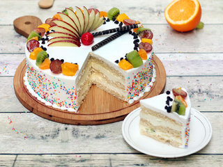 Sliced View of Vanilla Fruit Cake in Ghaziabad