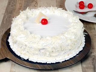 Creamy White Forest Cake