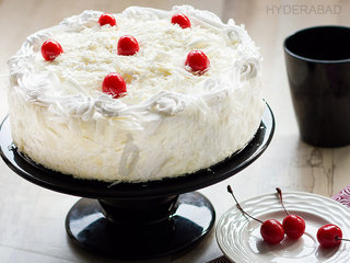 White Forest Cake in Hyderabad - Order Now